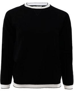 Sheer Contrast Pullover