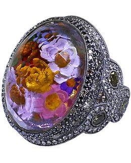 Carved Flower Garden Ring