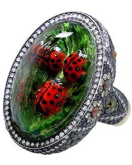 Carved Ladybug Ring