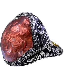Carved Roses Ring