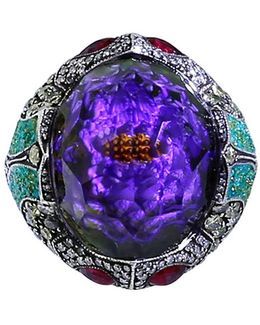Carved Waterlily Ring