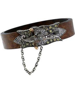 Sword Clasp Leather Bracelet