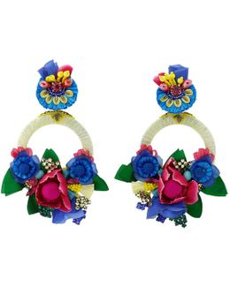 Multi Color Flower Earrings