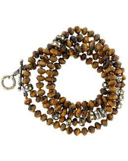 Libra Tiger Eye Wrap Necklace