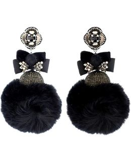 Pom Pom Mink Earrings