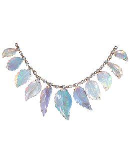 Carved Opal Leaf Necklace