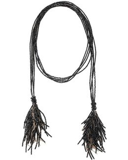 Fringed Lariat Necklace