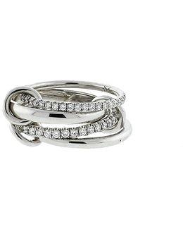 Polaris Four Link Diamond Pave Rings