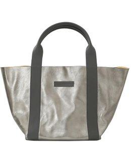 Metallic Suede Reversible Handbag