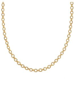 Tiny Oval Link Chain Necklace