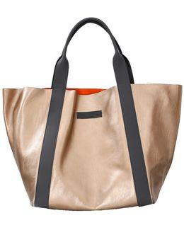 Reversible Leather Suede Handbag