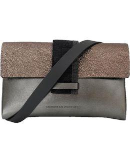 Mini Metallic Flap Crossbody Handbag