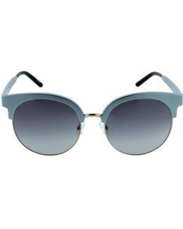 Gold Trim Round Sunglasses