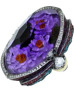 Waterlily Amethyst Ring