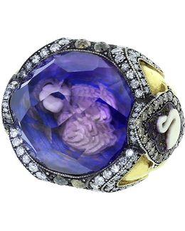 Swan Amethyst Ring