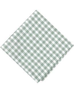 Oxford Check Pocket Square