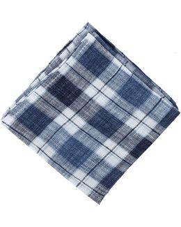 Linen Plaid Pocket Square