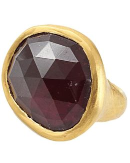 Carmen Rubelite Tourmaline Slice Ring