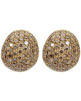 Small Cognac Diamond Roxanne Earrings