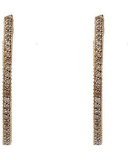 Lilah Cognac Diamond Pave Hoop Earrings
