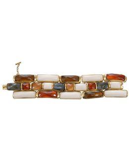 Link Rectangle Wood Bracelet