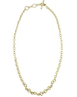 Scale Round Chain Necklace