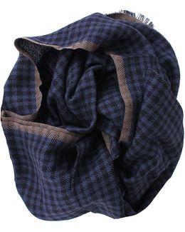Cashmere Silk Check Scarf