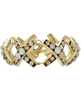 Round Stone X Bracelet