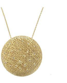 Large Round Lace Pendant Necklace