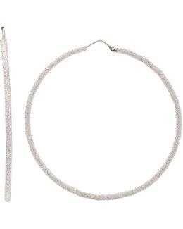 Medium Sparkly Hoop Earrings