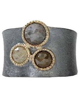 Natural Color Rose Cut Diamond Ring