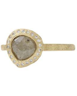 Fancy Cut Pear Shape Diamond Ring