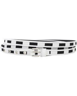 Triple Wrap Striped Belt