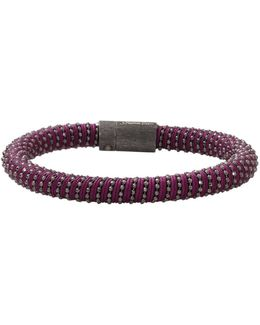 Purple Twister Band Bracelet