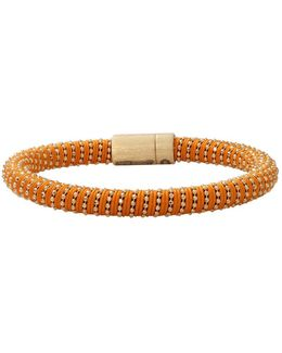 Orange Twister Band Bracelet