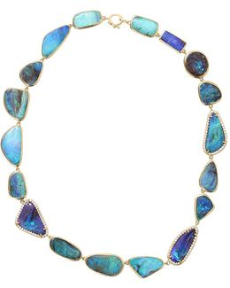 Boulder Opal And Diamond Necklace