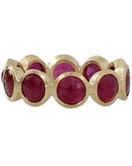 Cabochon Ruby Eternity Ring