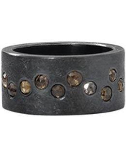 Brown Rosecut Diamond Ring