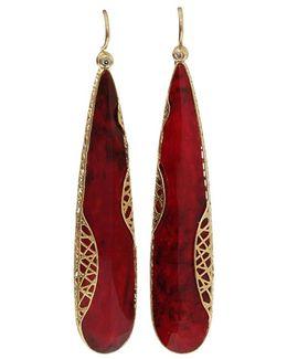 Ruby Slice Lace Earrings