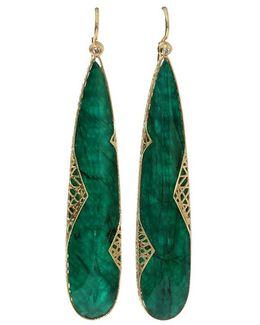 Emerald Slice Lace Earrings