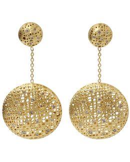 Drop Lace Diamond Earrings