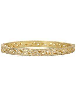 Diamond Pave Lace Cuff Bracelet