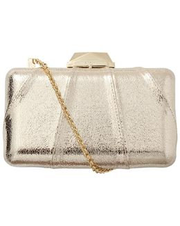 Espey Crinkled Leather Clutch