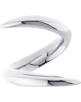 White-gold Crossover Ring
