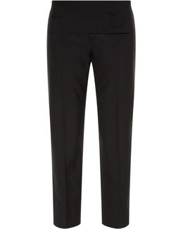 Button-front Cropped Trousers