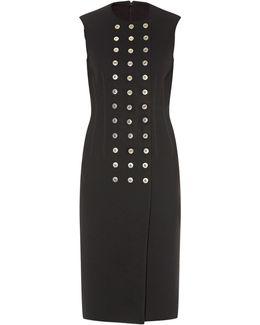 Rivet-detail Sleeveless Dress