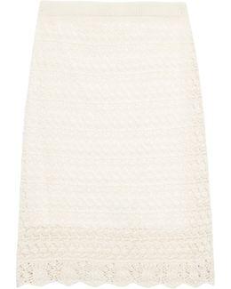 Dwight Crochet-knit Skirt