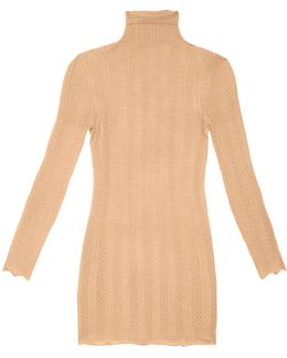 Lace-effect Cashmere And Silk-blend Sweater