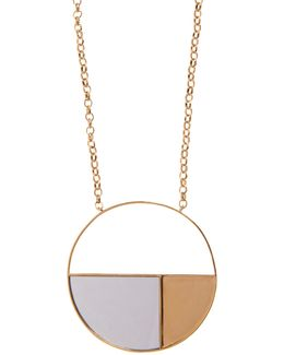 Bianca Mirrored Yellow Gold-plated Long Necklace