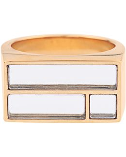 Bianca Yellow Gold-plated Mirror Ring